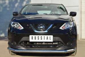 Nissan Qashqai 2014- Защита переднего бампера d63 (секции) NQQZ-001786